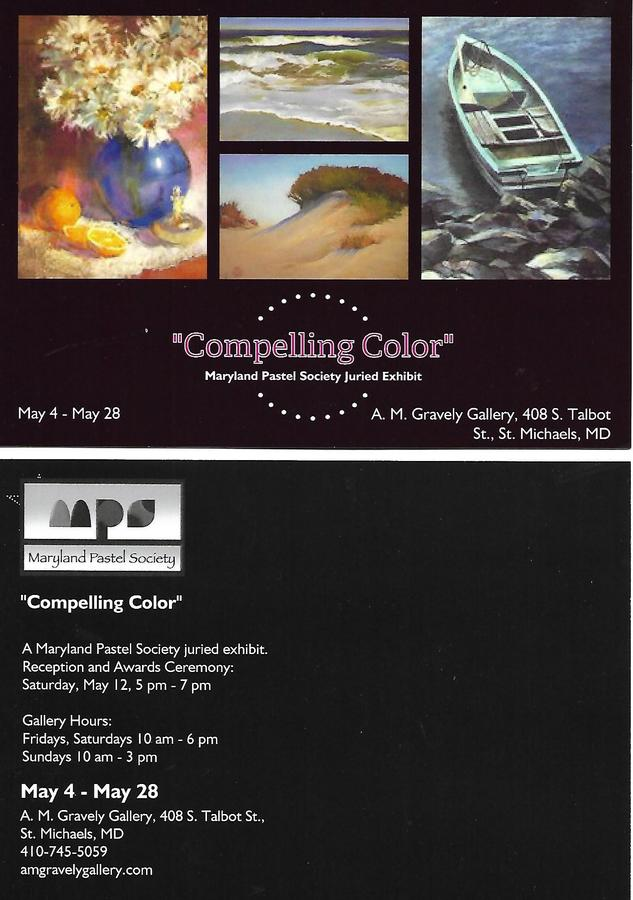 Compelling Color - Member Only Juried Exhibition 2018 through May 28th